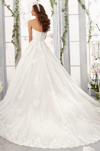 Vestido de novia Encaje Corte-A Sin mangas Natural primavera largo - Página 2