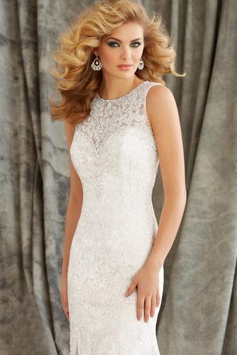 Vestido de novia primavera Natural Cola Capilla Corte Sirena Cristal - Página 3