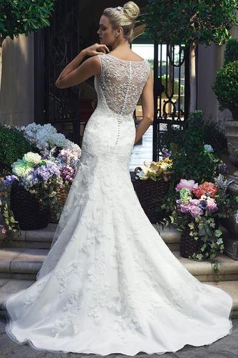 Vestido de novia primavera Encaje Cremallera Natural Abalorio largo - Página 2