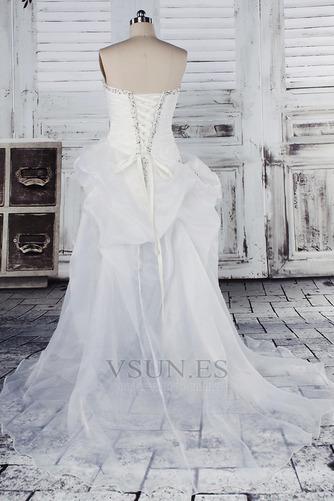 Vestido de novia Fuera de casa Exclusivo Plisado Asimétrico Dobladillo - Página 3