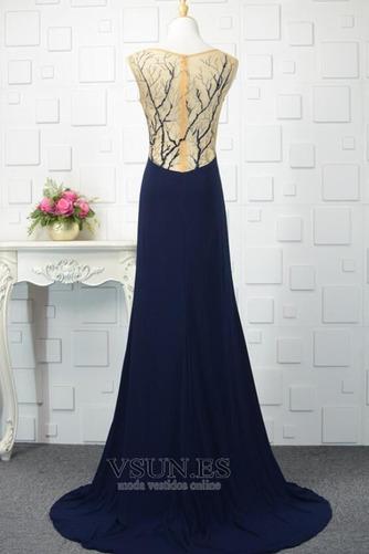 Vestido de noche vendimia Corte-A Escote en V Frontal Dividida Natural - Página 3