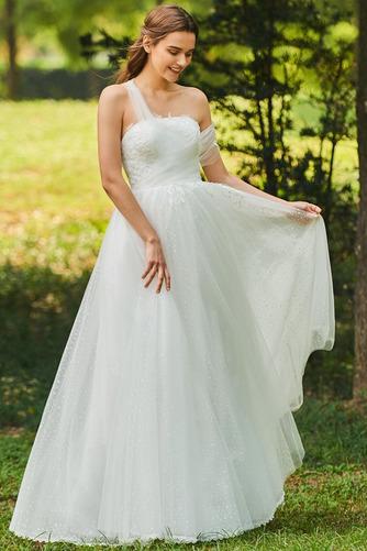Vestido de novia Romántico Encaje Corte-A Sin mangas primavera Abalorio - Página 1
