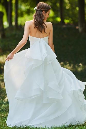 Vestido de novia Corte-A Cascada de volantes Sin mangas Reloj de Arena - Página 2