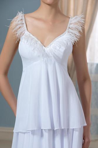 Vestido de novia Embarazadas Sin mangas Cola Barriba Escote en V Playa - Página 5