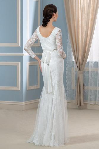 Vestido de novia Invierno Hasta el suelo Tallas grandes Cinturón de cuentas - Página 2