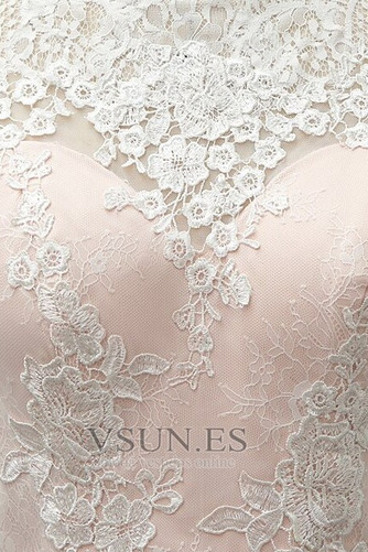 Vestido de novia Encaje Cremallera Verano Glamouroso Natural Falta - Página 9