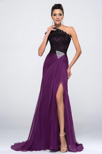 Vestido de noche Corte Sirena largo Asimétrico Estilo Delgado sexy Frontal Dividida - Página 1