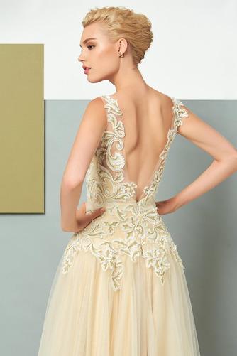 Vestido de noche Elegante Corte-A Natural Hasta el suelo Espalda Descubierta - Página 5