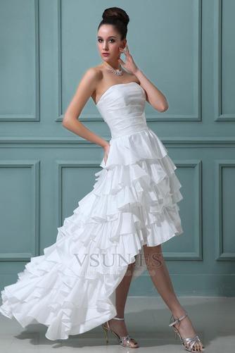 Vestido de novia Alto Bajo Cascada de volantes Fuera de casa Moderno - Página 3