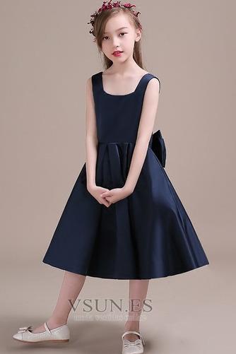 Vestido niña ceremonia Corte-A Lazos Arco Acentuado Satén Formal primavera - Página 3