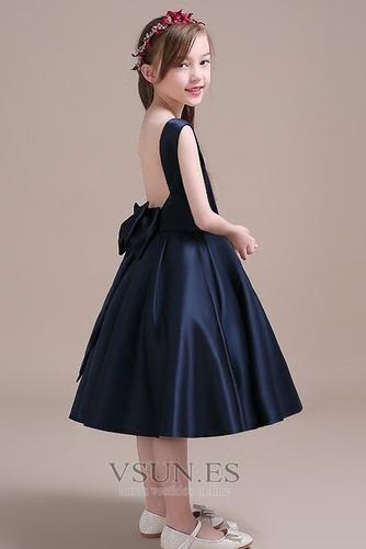 Vestido niña ceremonia Corte-A Lazos Arco Acentuado Satén Formal primavera - Página 4