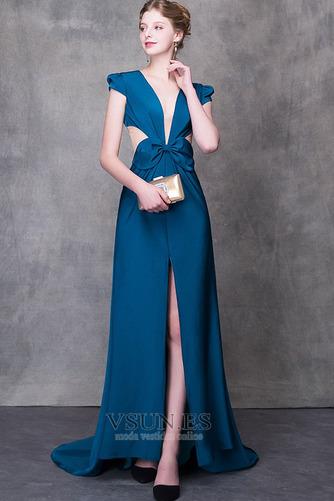 Vestido de fiesta largo Falta Verano Natural Elegante Escote en V - Página 3