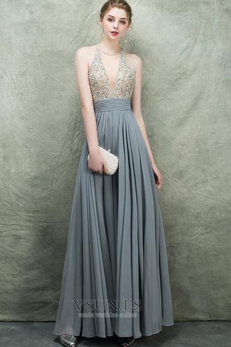 Vestido de fiesta Espectaculares Corte-A Natural Corpiño Acentuado con Perla - Página 1