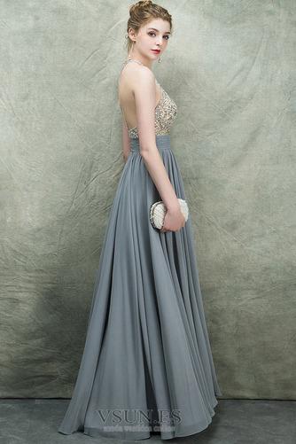 Vestido de fiesta Espectaculares Corte-A Natural Corpiño Acentuado con Perla - Página 3