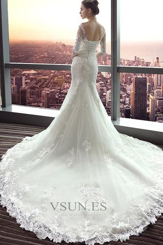 Vestido de novia largo Espalda Descubierta Formal Playa Encaje Corte Sirena - Página 2