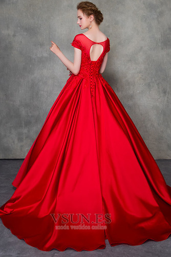 Vestido de novia Corte-A Triángulo Invertido Escote con Hombros caídos - Página 4