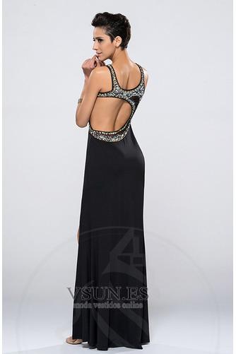 Vestido de noche Escote Asimètrico Espalda Descubierta Cristal Corpiño Acentuado con Perla - Página 2