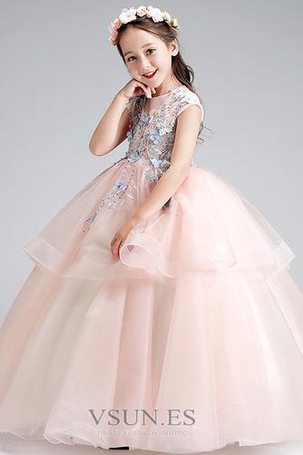 Vestido niña ceremonia Joya Natural Falta Formal Cremallera Apliques - Página 4
