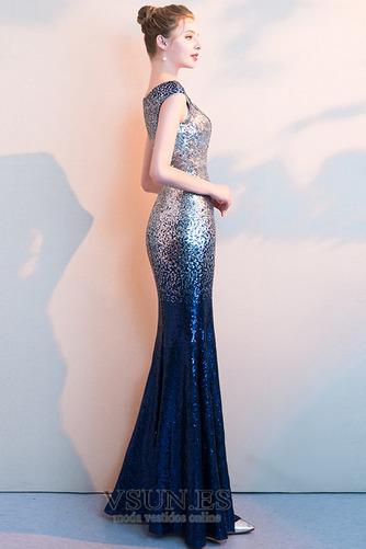 Vestido de fiesta Corte Sirena Hasta el Tobillo Tallas pequeñas Moderno - Página 4