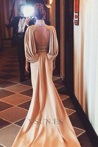 Vestido de noche Espalda Descubierta Escote con cuello Alto Glamouroso - Página 2