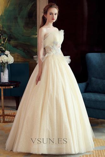Vestido de novia Sin mangas primavera Corte-A Hasta el suelo tul Apliques - Página 4