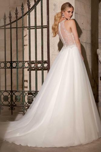 Vestido de novia Corte princesa Organza Moderno Fuera de casa Cremallera - Página 2