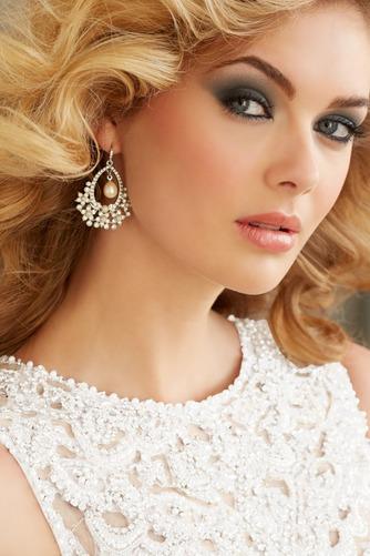 Vestido de novia primavera Natural Cola Capilla Corte Sirena Cristal - Página 4