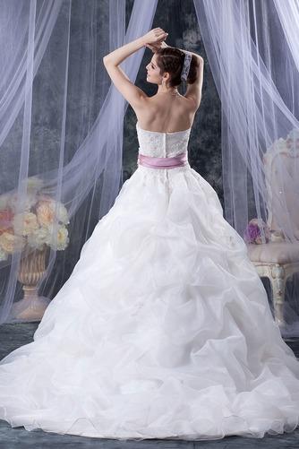Vestido de novia Sin tirantes Corte-A Iglesia largo Sin mangas Encaje - Página 3