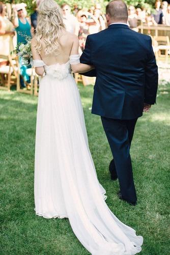 Vestido de novia Espalda Descubierta Playa Escote con Hombros caídos - Página 4