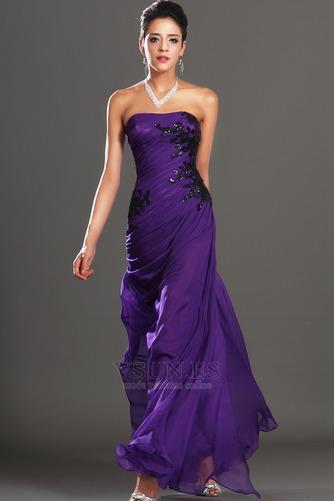 Vestido de noche Encaje Glamouroso Natural Frontal Dividida Apliques - Página 3