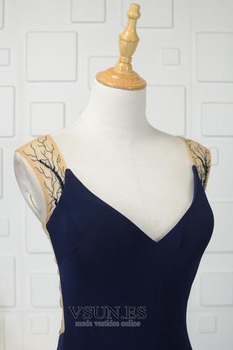 Vestido de noche vendimia Corte-A Escote en V Frontal Dividida Natural - Página 4
