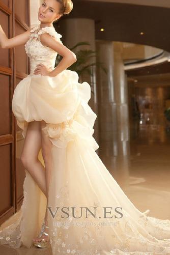 Vestido de novia Abalorio Sin mangas Tiras anchas Alto Bajo Cremallera - Página 2