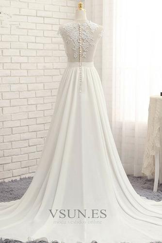 Vestido de novia primavera Apertura Frontal Natural Pura espalda Encaje - Página 3