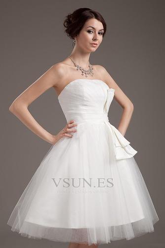 Vestido de novia Romántico Corte princesa Hasta la Rodilla Tallas pequeñas - Página 5