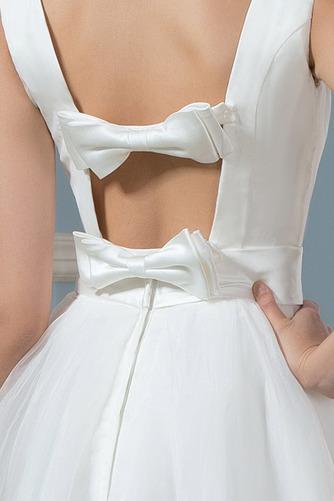 Vestido de novia Falta Hasta la Rodilla Moderno Natural Lazos Corte-A - Página 3