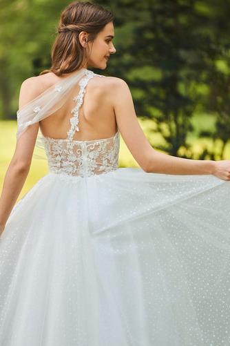 Vestido de novia Romántico Encaje Corte-A Sin mangas primavera Abalorio - Página 6