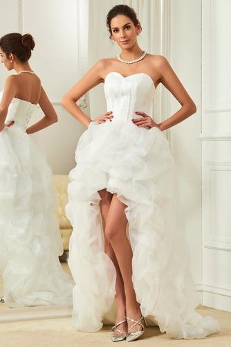 Vestido de novia Elegante Cola Capilla Triángulo Invertido Natural Satén - Página 1