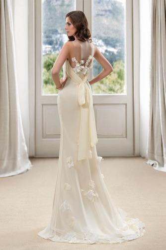 Vestido de novia Corte Sirena Natural Cola Barriba Flores Pura espalda - Página 2