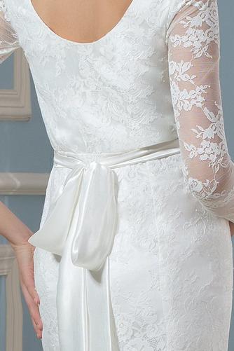 Vestido de novia Invierno Hasta el suelo Tallas grandes Cinturón de cuentas - Página 4