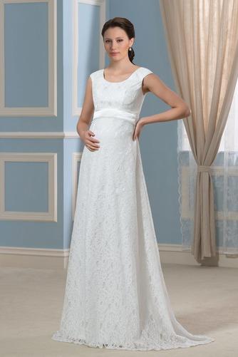 Vestido de novia Imperio Cola Barriba Moderno Escote redondo Encaje - Página 1