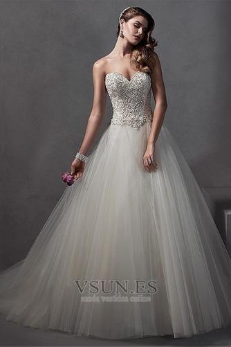 Vestido de novia Falta primavera Sala Sin mangas Apliques vendimia - Página 3