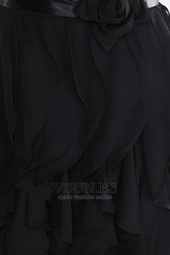 Vestido de dama de honor Gasa Flores gris oscuro Cremallera Escote Corazón Rectángulo - Página 6
