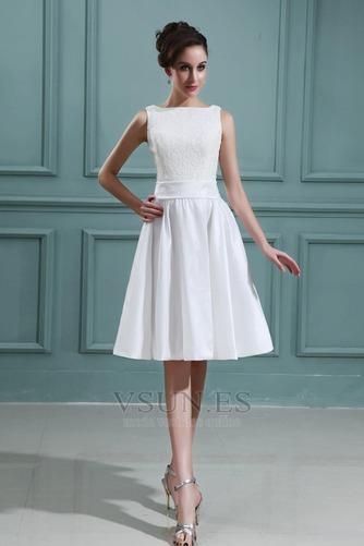 Vestido de novia Playa Oscilación Apliques Natural Corte-A Encaje - Página 1