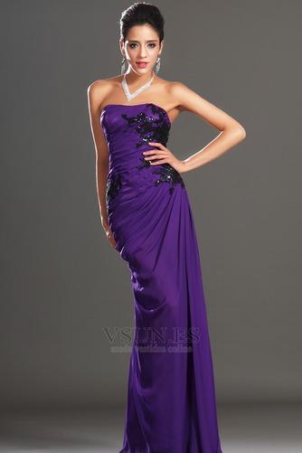 Vestido de noche Encaje Glamouroso Natural Frontal Dividida Apliques - Página 4