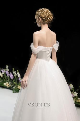 Vestido de novia Fuera de casa Drapeado Corte-A Hasta el suelo Sin mangas - Página 5