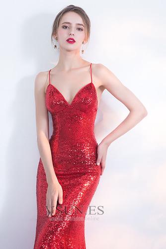 Vestido de fiesta Corpiño Con lentejuelas Corte Sirena Estrellado Natural - Página 4
