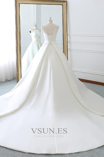 Vestido de novia Invierno Iglesia Cola Barriba Falta Espalda Descubierta - Página 3