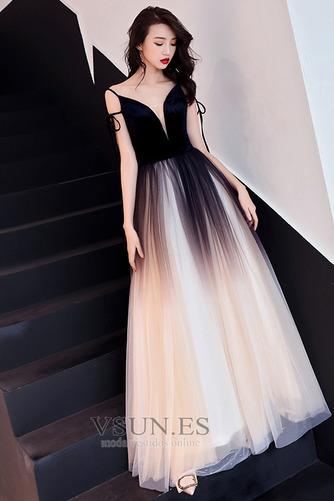 Vestido de fiesta Elegante Corte-A Natural Espalda Descubierta Escote en V - Página 2