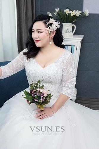 Vestido de novia Capa de encaje Apliques La mitad de manga Cordón Formal - Página 5