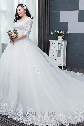 Vestido de novia Capa de encaje Apliques La mitad de manga Cordón Formal - Página 4